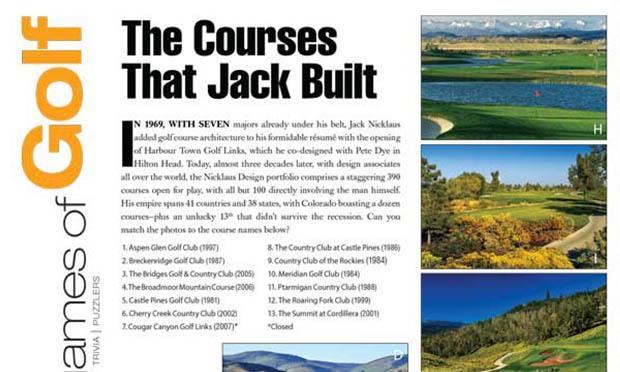 The Courses That Jack Built