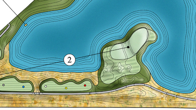 Design of hole 2 of the new Colorado TPC course to open in Berthoud in 2018