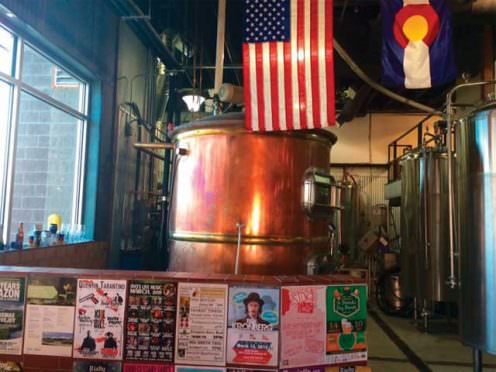Brewing tanks at Zwei Brewing in Fort Collins