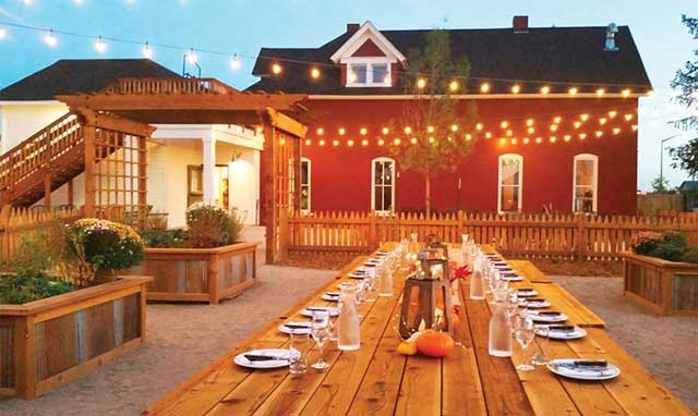 The patio at Jessup Farm Barrel House