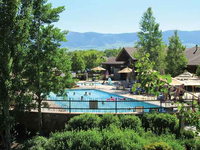 The pool at the Powder Horn