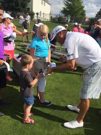 PGA TOUR player Ryan Palmer signs autographs