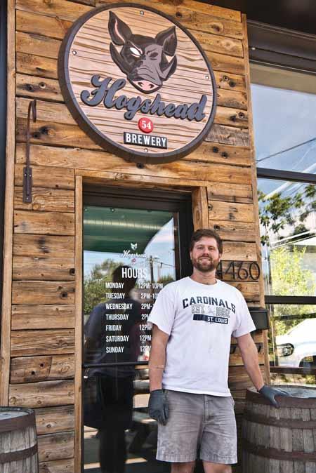 Hogshead brewmaster Jacob Gardner
