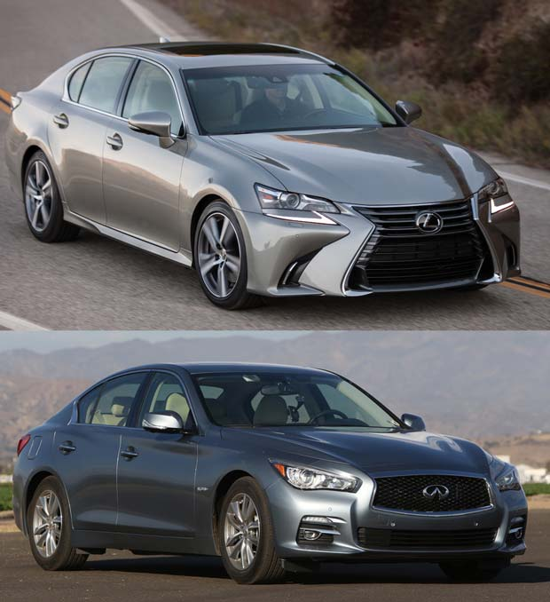 Comparison 2016 Infiniti Q50 2 0t Lexus Gs200t