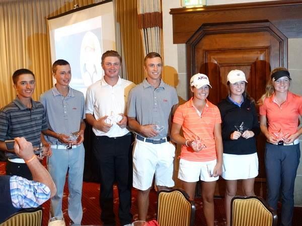 Junior Golf Alliance winners at championship dinner