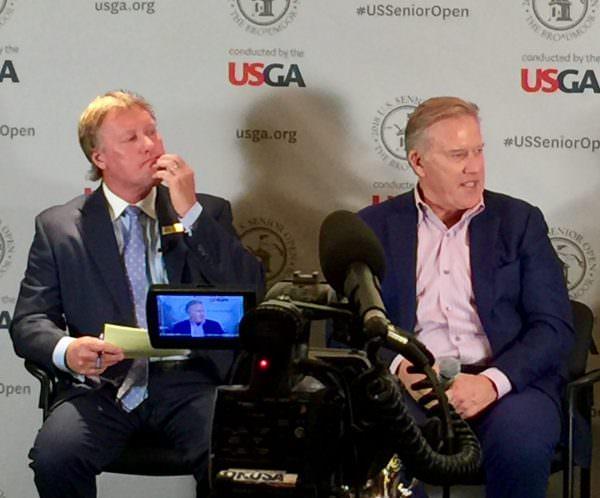 John Elway and Russ Miller, 2018 U.S. Senior Open