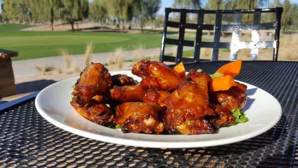Ak-Chin Southern Dunes' smoked jumbo chicken wings in sweet chile sauce