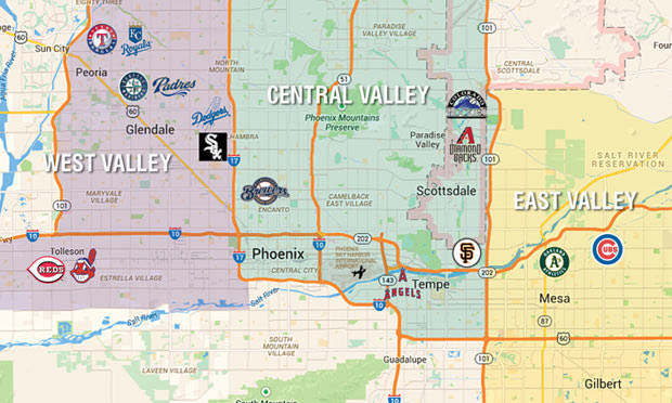 Cactus League Map and Golf Directory Colorado AvidGolfer