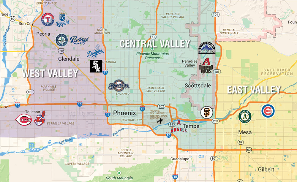 2019 Spring Training Guide: Cactus League Map and Golf Directory ...
