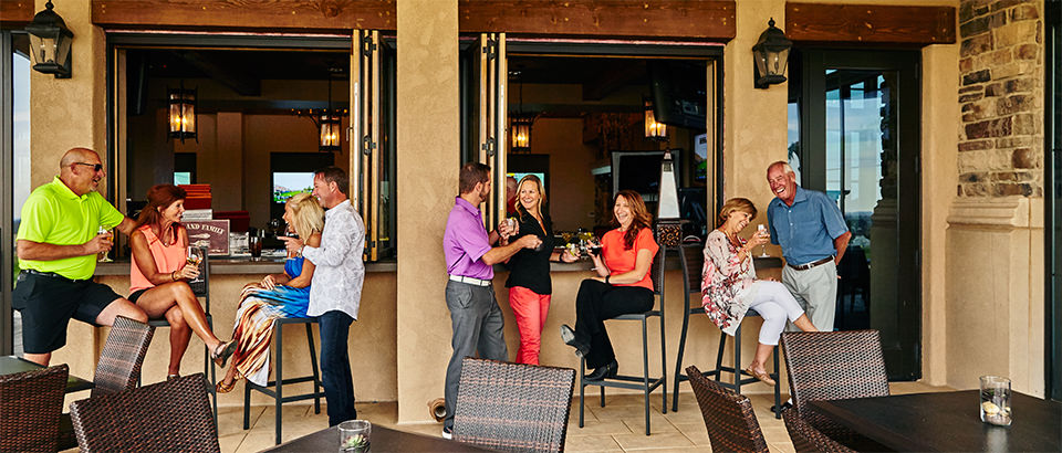 Blackstone Country Club's outdoor bar