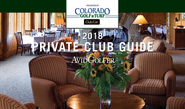 2018 Colorado Avidgolfer Private Club Guide Colorado
