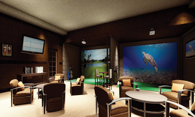 Columbine Country Club Sim Room