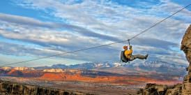 Outdoor zipline