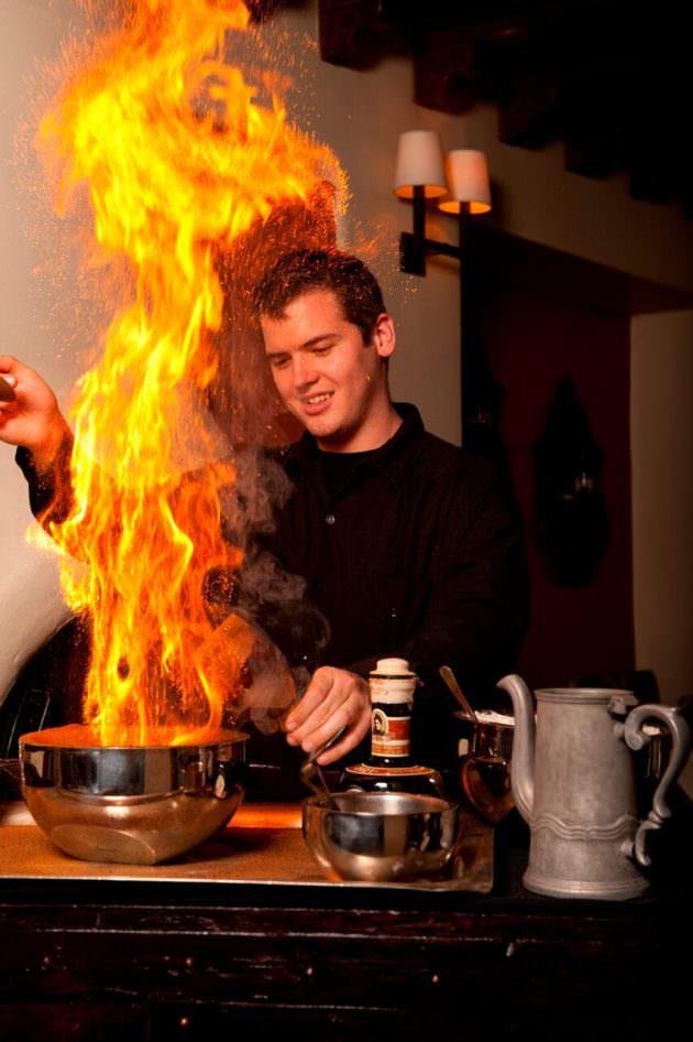 Flaming Coffee at Hacienda