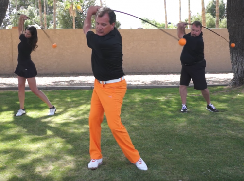 The Orange Whip Training Aid could be your key to synching up your golf swing and posting lower scores.