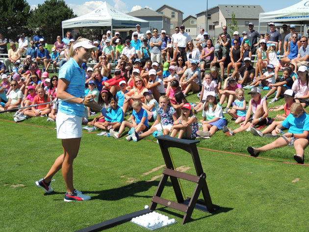 Lexi Thompson at last year's CoBank exhibition at Green Valley Ranch