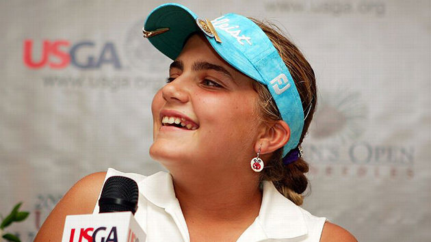 Thompson at age 12, when she competed in the 2007 U.S. Women's Open.