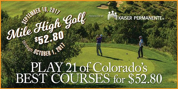 Mile High Golf $52.80 Cover Full