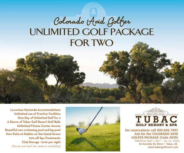 tubac golf package 2017-2018