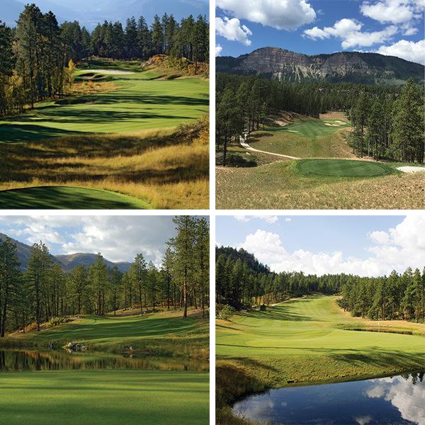 Glacier Club Mountain Course Collage