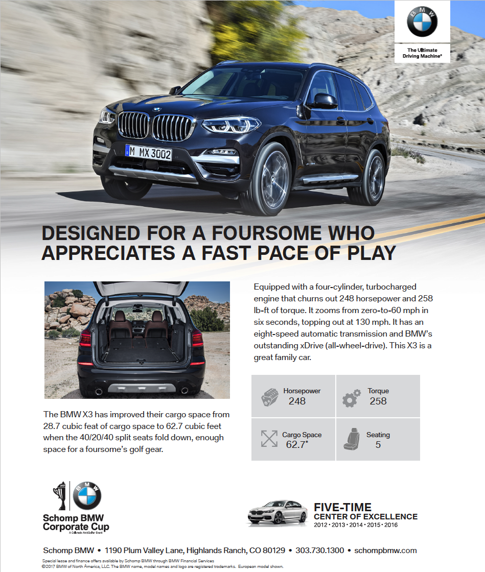 The Unmatched X3 From Schomp Bmw Colorado Avidgolfer
