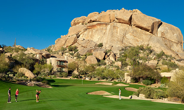 The 5th Green Approach at The Boulders Resort