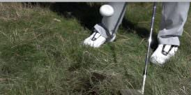 Deep rough pitch shot wedge bounce cover