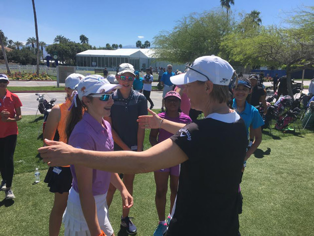 Annika Sorenstam at one of her ANNIKA Foundation events.