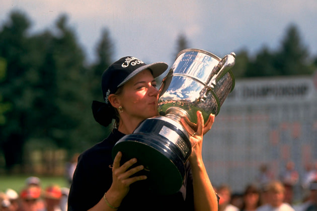 Annika Sorenstam wins her first LPGA major, the 1995 U.S. Women's Open, at The Broadmoor.
