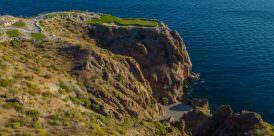 A distant view of Danzante Bay's 17th hole.