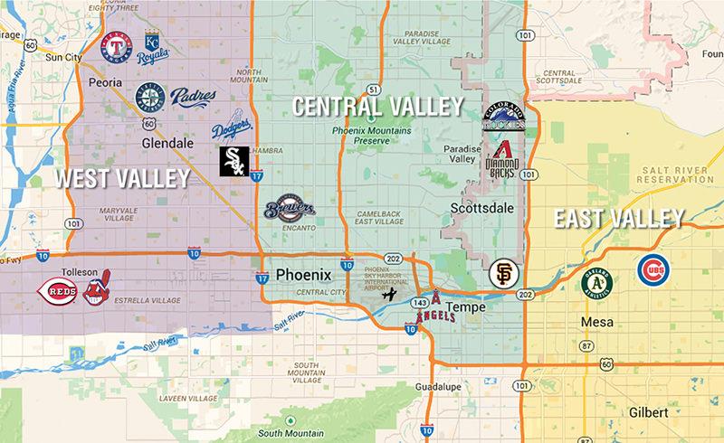 Map Of Arizona Scottsdale.Scottsdale In March Is A Home Run Colorado Avidgolfer