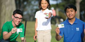 ACCESS PASS: Three of the many card-carrying Youth on Course beneficiaries