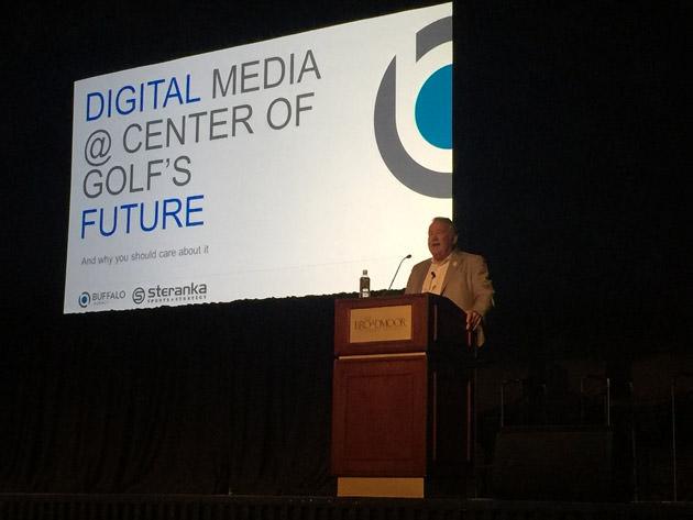 Former PGA CEO Joe Steranka addresses the G4 Summit at The Broadmoor