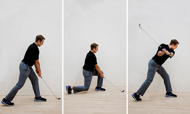 lunge to backswing - lower body workout