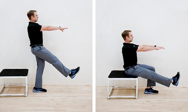 single leg getup - lower body workout