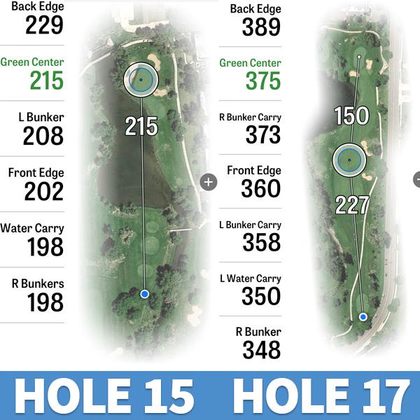 inverness golf club no. 15 and no. 17