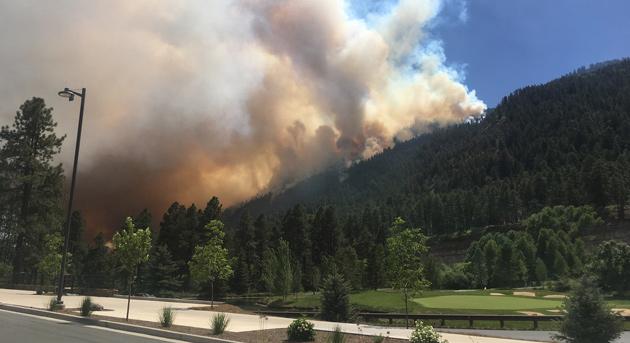The 416 Fire came perilously close to Durango's Glacier Club.