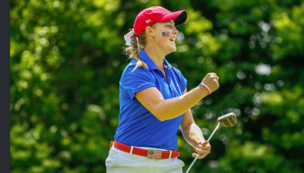 Jennifer Kupcho at the 2018 Curtis Cup