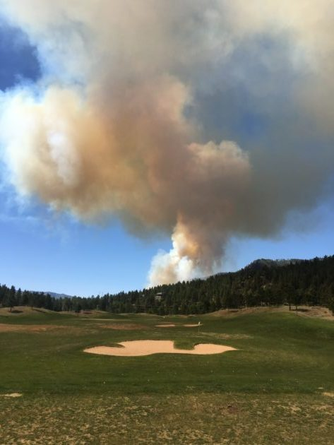 Glacier's practice range on Day One of the 416 fire. (photograph by Alex Fisher)
