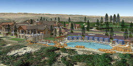 country club at castle pines pool rendering