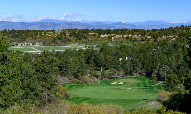 country club at castle pines hole view
