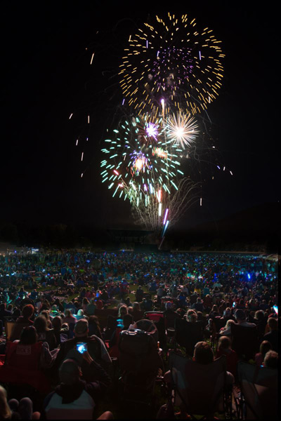 Fireworks at Alpine Bank's Salute to the USA