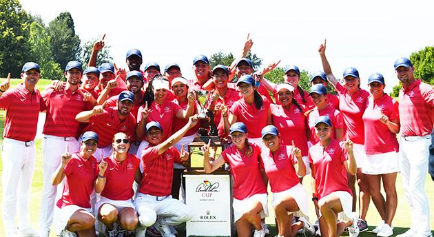 Winning 2018 Palmer Cup team