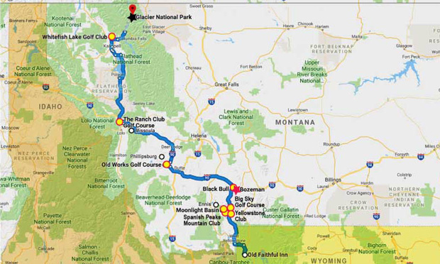 montana golf map
