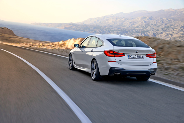 A rear view of the new Bimmer.