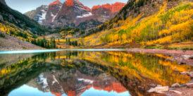 colorado mountains fall getaway maroon bells