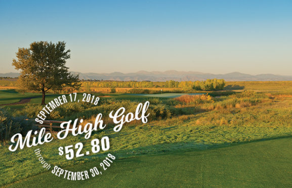 Mile High Golf at $52.80 is BACK through the end of September!