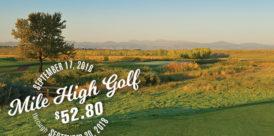 mile high golf at $52.80