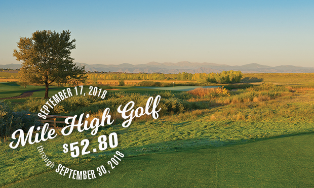 mile high golf at $52.80