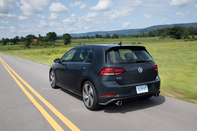 The GTI has ample room for bikes, skis and other toys.